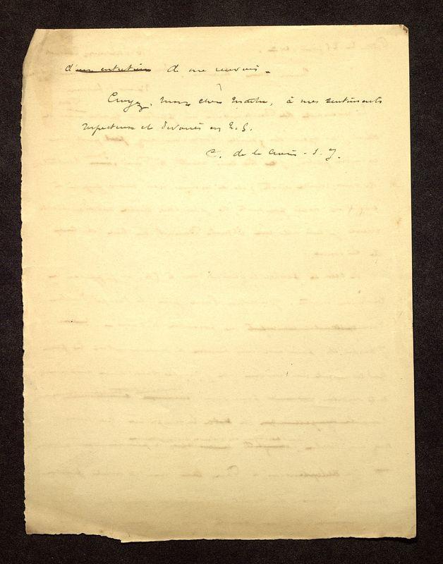 Visuel du media #2 - Lettre de De La Croix à Reinach du 25 février 1897, page 2