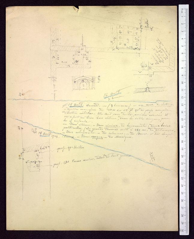 Visuel du media #9 - Notes sur les fouilles, Rue Paul Bert, page 2