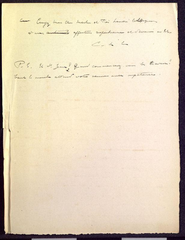 Visuel du media #10 - Brouillon de lettre de De La Croix à Formigé du 22 décembre 1897, page 2