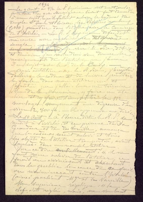 Visuel du media #8 - Récapitulatif journées août 1894, page 1