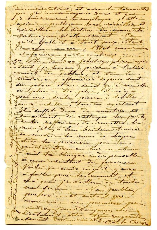 Visuel du media #2 - Lettre de De La Croix à Espérandieu du 10 novembre 1887, page 2