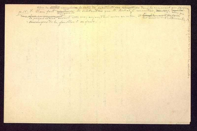 Visuel du media #4 - Notes manuscrites, Rue Paul Bert, page 3
