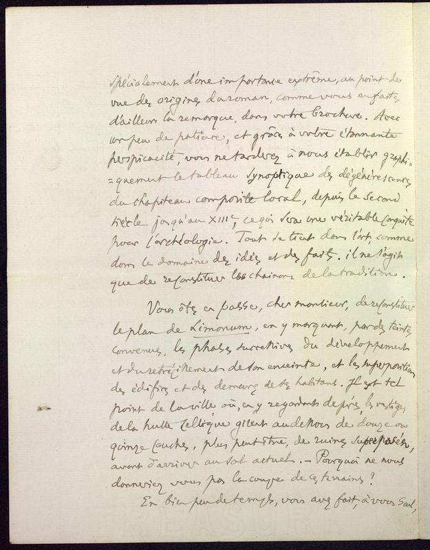 Visuel du media #6 - Lettre de Fillon à De La Croix du 14 novembre 1879, page 4
