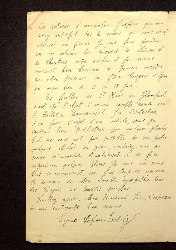 Visuel du media #5 - Lettre de Lefèvre-Pontalis à De La Croix du 24 janvier 1901, page 2