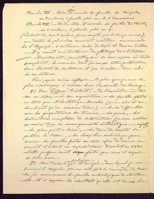 Visuel du media #10 - Lettre de De La Croix à Babelon du 14 novembre 1897, page 2