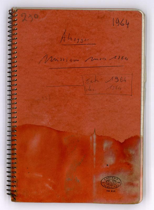 Visuel du document Carnet de mission Ahaggar: mars, octobre et décembre 1964