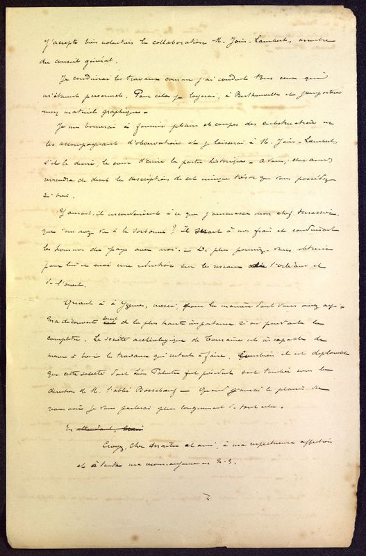 Visuel du media #3 - Brouillon de lettre de De La Croix à Babelon du 11 juillet 1896, page 2