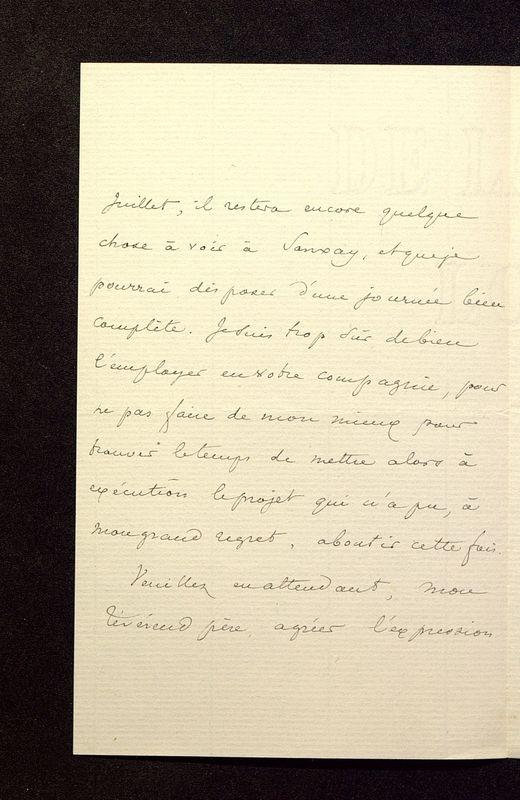 Visuel du media #7 - Lettre de Lasteyrie Du Saillant à De La Croix du 08 avril 1882, page 2