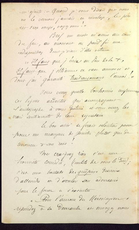Visuel du media #10 - Lettre de Dumuÿs à De La Croix du 18 décembre 1886, page 2
