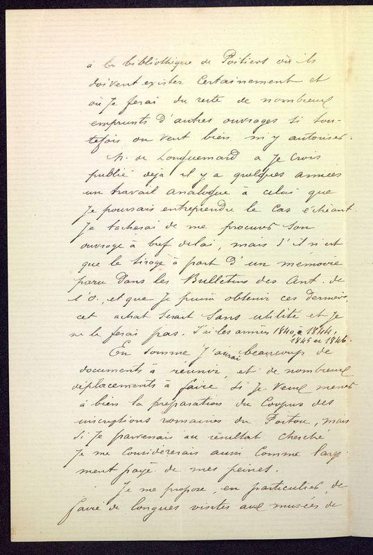 Visuel du media #10 - Lettre de Espérandieu à De La Croix de 1886, page 3