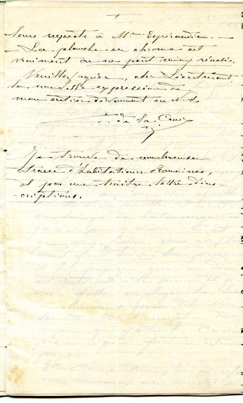 Visuel du media #11 - Lettre de De La Croix à Espérandieu du 20 novembre 1888, page 2