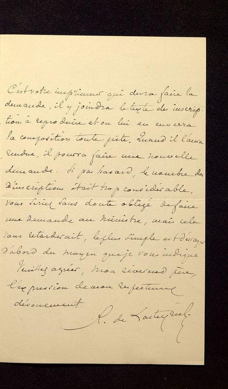 Visuel du media #11 - Lettre de Lasteyrie Du Saillant à De La Croix du 05 mai 1882, page 3
