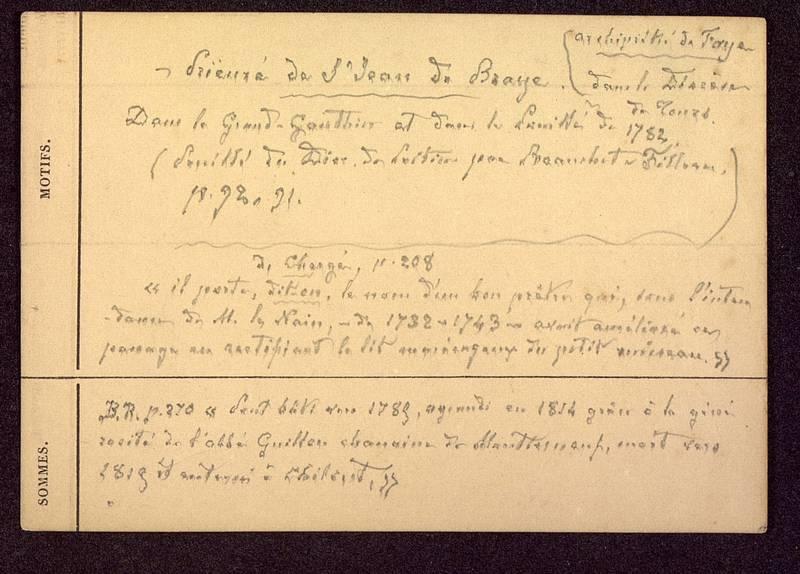 Visuel du document Notes manuscrites sur les autres édifices religieux de Poitiers 03