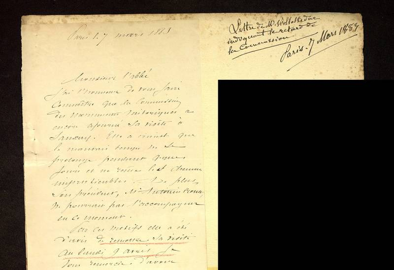 Visuel du media #6 - Lettre de Viollet-le-Duc à De La Croix du 07 mars 1883, page 1