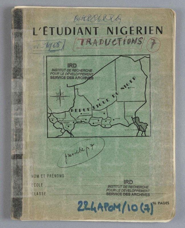 Visuel du document Cahier de traductions 07 (Niger), 1965