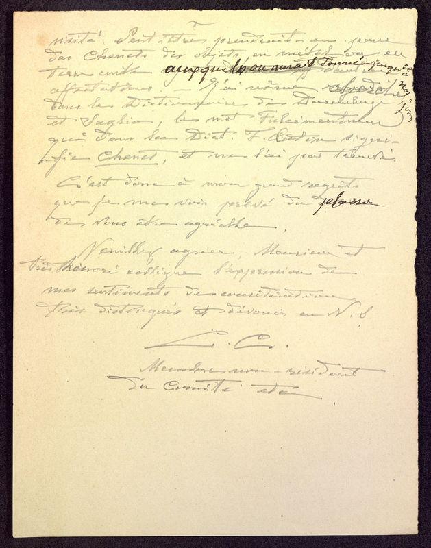 Visuel du media #4 - Brouillon de lettre de De La Croix à Déchelette du 05 mars 1898, page 2