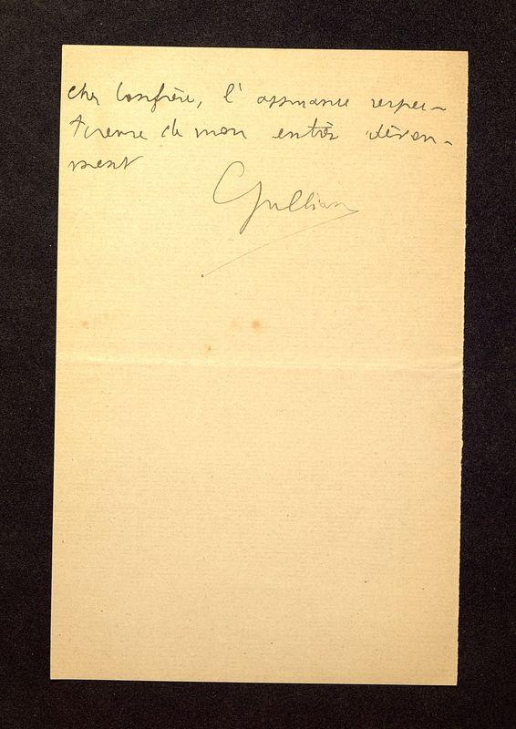 Visuel du media #4 - Lettre de Jullian à De La Croix du 15 juillet 1896, page 2