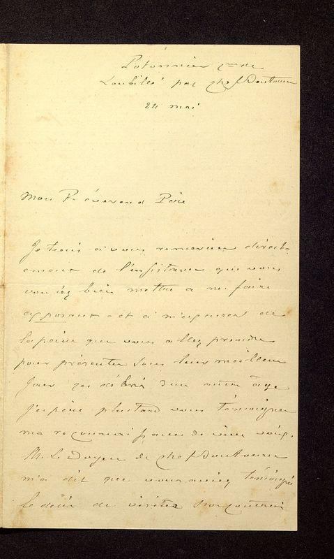 Visuel du media #5 - Lettre de Beauchet-Filleau à De La Croix du 24 mai?, page 2
