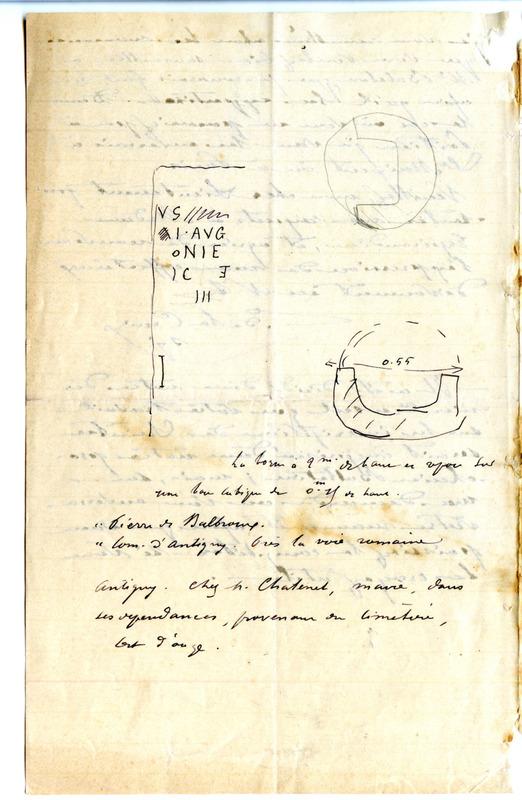 Visuel du media #4 - Lettre de De La Croix à Espérandieu du 28 février 1888, page 1