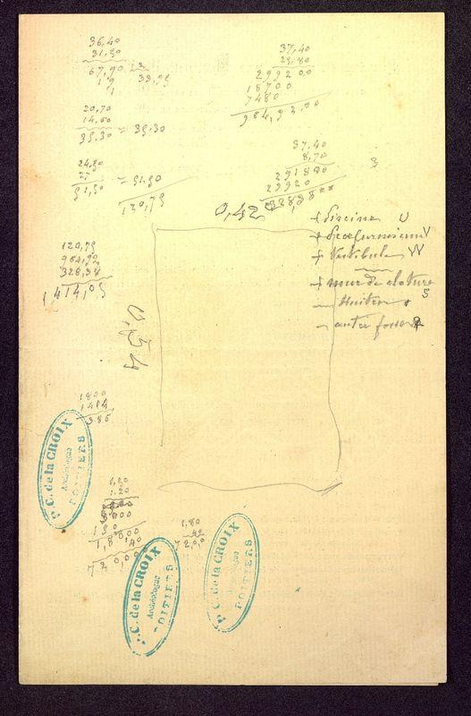 Visuel du media #3 - Notes manuscrites, Rue Paul Bert, page 1