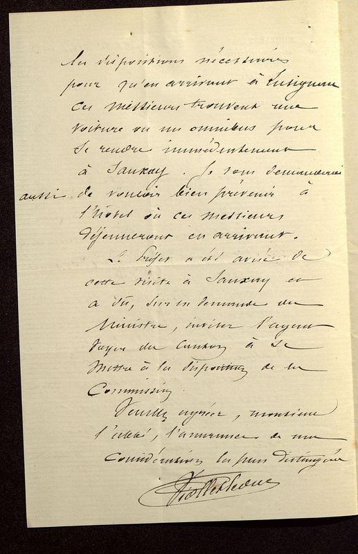 Visuel du media #9 - Lettre de Viollet-le-Duc à De La Croix du 13 avril 1883, page 2