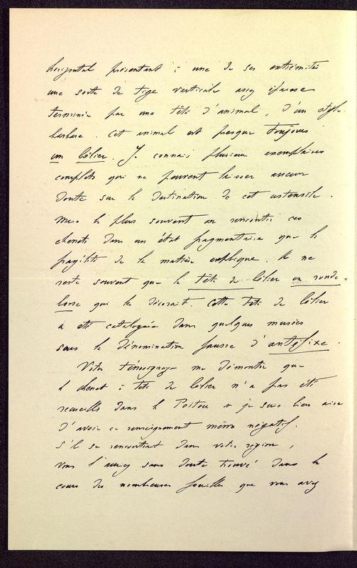 Visuel du media #6 - Lettre de Déchelette à De La Croix du 07 mars 1898, page 2
