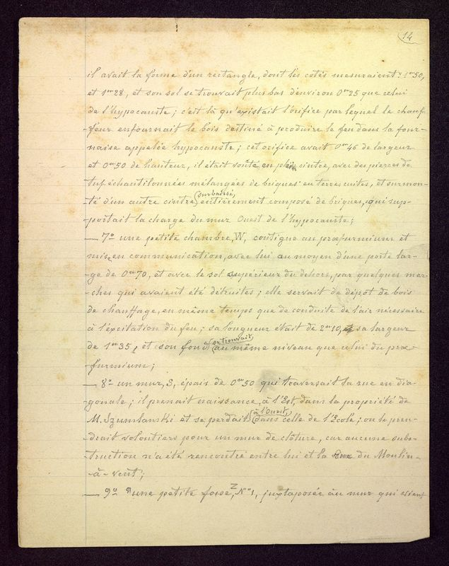 """Visuel du media #11 - Brouillon du manuscrit """"Les fouilles de la rue Paul Bert à Poitiers"""", page 2"""
