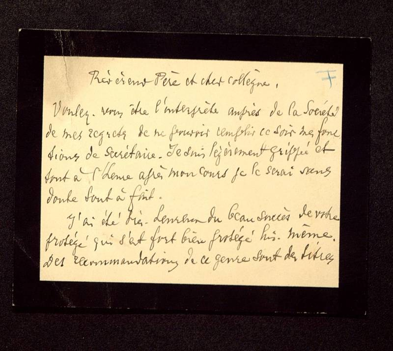 Visuel du media #3 - Lettre de Hild à De La Croix du 19 mars 1891, page 1
