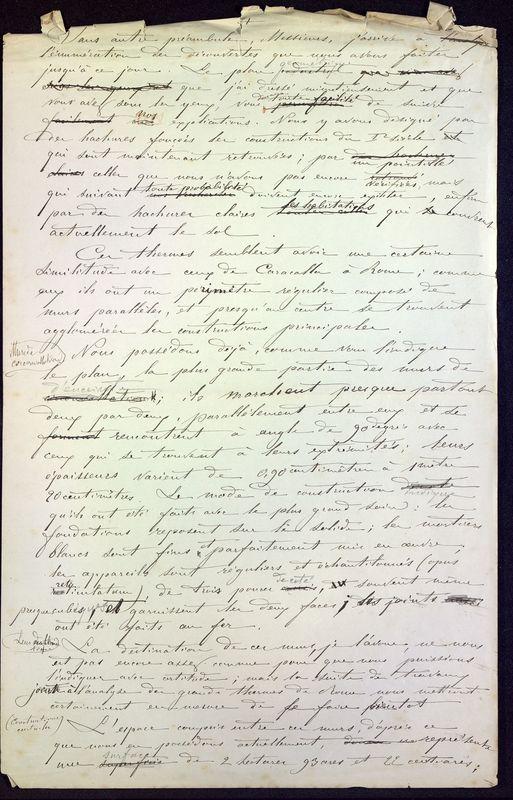 Visuel du media #2 - Les thermes de Poitiers, manuscrit communication 7 p., page 2