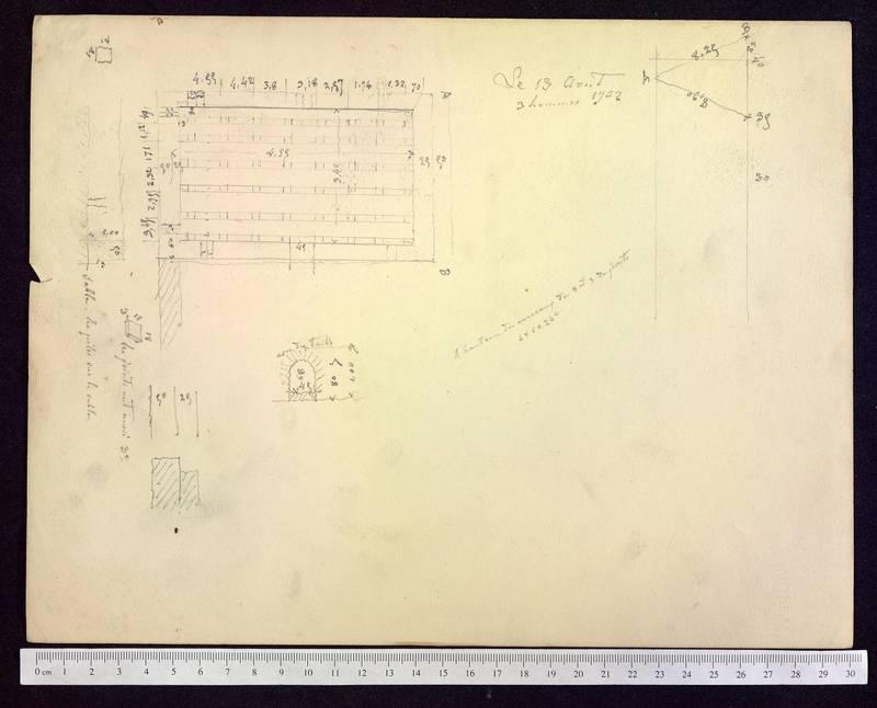Visuel du media #8 - Notes sur les fouilles, Rue Paul Bert, page 1