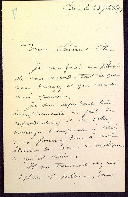Visuel du media #11 - Lettre de Formigé à De La Croix du 23 décembre 1897, page 1