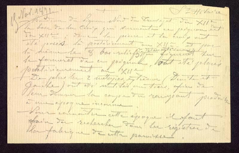 Visuel du media #6 - Notes manuscrites, Église Saint-Hilaire