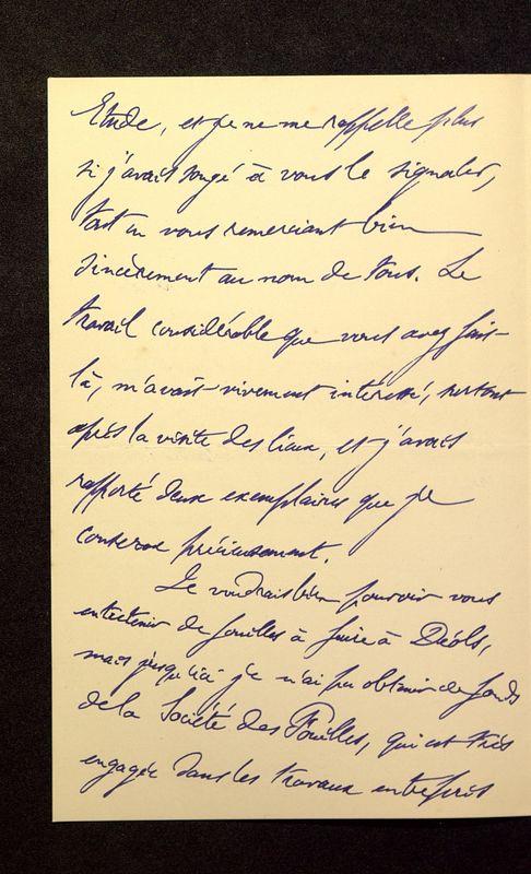 Visuel du media #8 - Lettre de Lenseigne à De La Croix du 10 juillet 1905, page 2