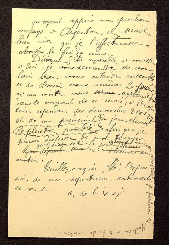 Visuel du media #4 - Lettre de De La Croix à Rollinat du 17 août 1905, page 2
