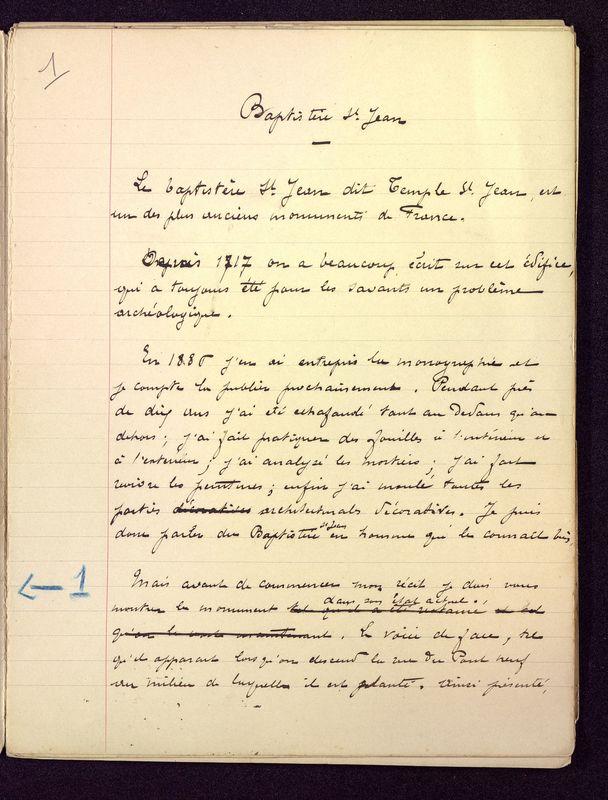 Visuel du media #1 - Baptistère Saint-Jean de Poitiers, page 1