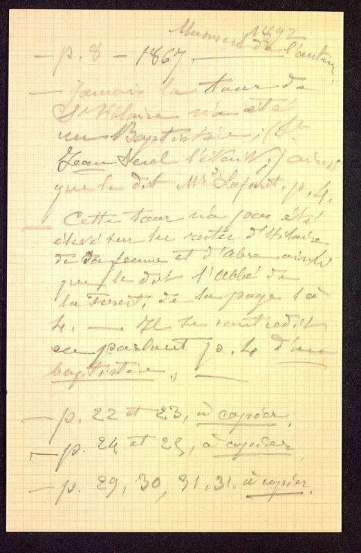 Visuel du media #5 - Notes manuscrites, Église Saint-Hilaire