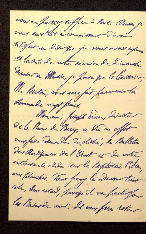 Visuel du media #3 - Lettre de Lenseigne à De La Croix du 07 juillet 1905, page 2