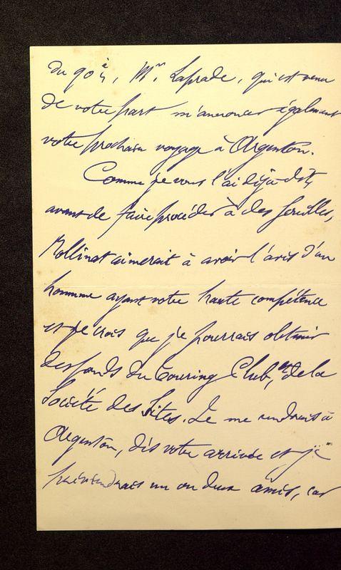 Visuel du media #11 - Lettre de Lenseigne à De La Croix du 13 août 1905, page 2