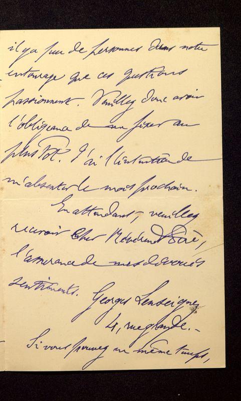 Visuel du media #12 - Lettre de Lenseigne à De La Croix du 13 août 1905, page 3