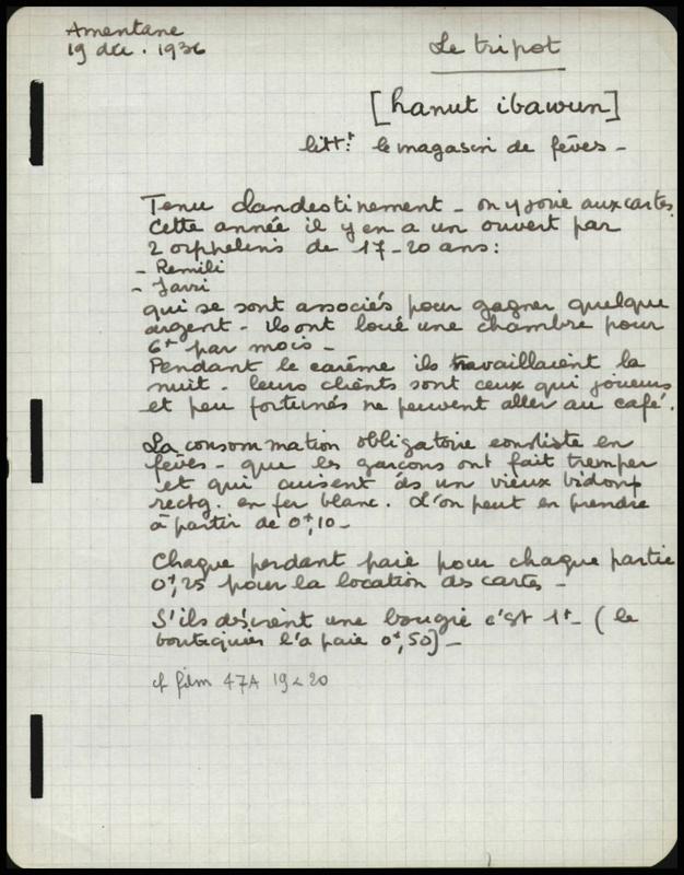 Visuel du projet Notes de terrain de Thérèse Rivière