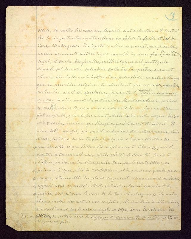 Visuel du media #7 - Manuscrit sur le Palais de Justice, page 1