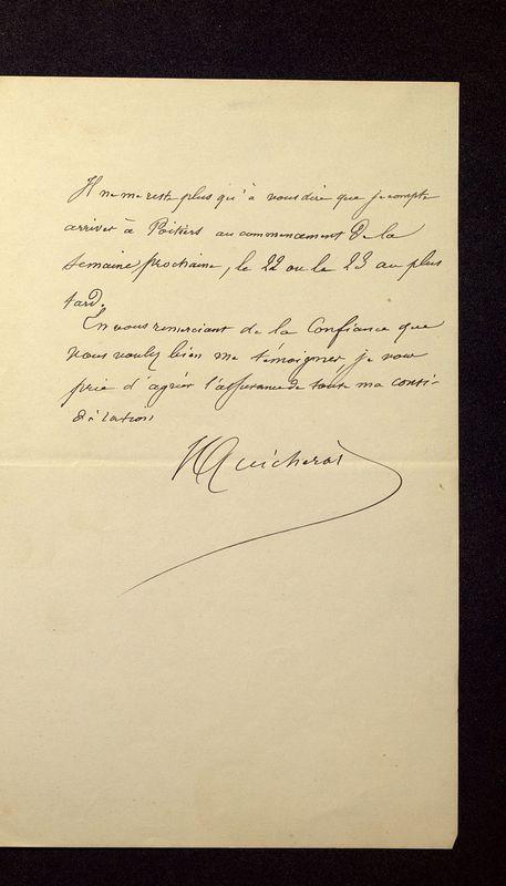 Visuel du media #10 - Lettre de Quicherat à De La Croix du 16 septembre 1879, page 3