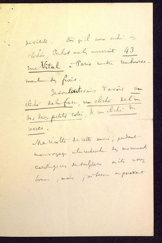 Visuel du media #10 - Lettre de Courajod à De La Croix du 26 décembre 1891, page 3