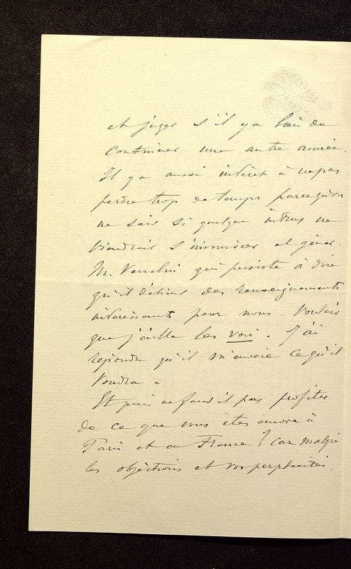 Visuel du media #6 - Lettre de Join-Lambert à De La Croix du 23 juillet 1896, page 2
