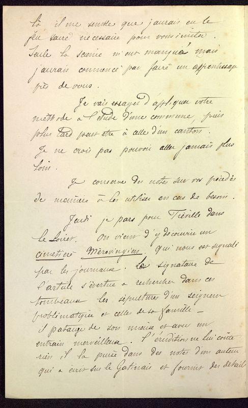 Visuel du media #6 - Lettre de Dumuÿs à De La Croix du 02 novembre 1886, page 2