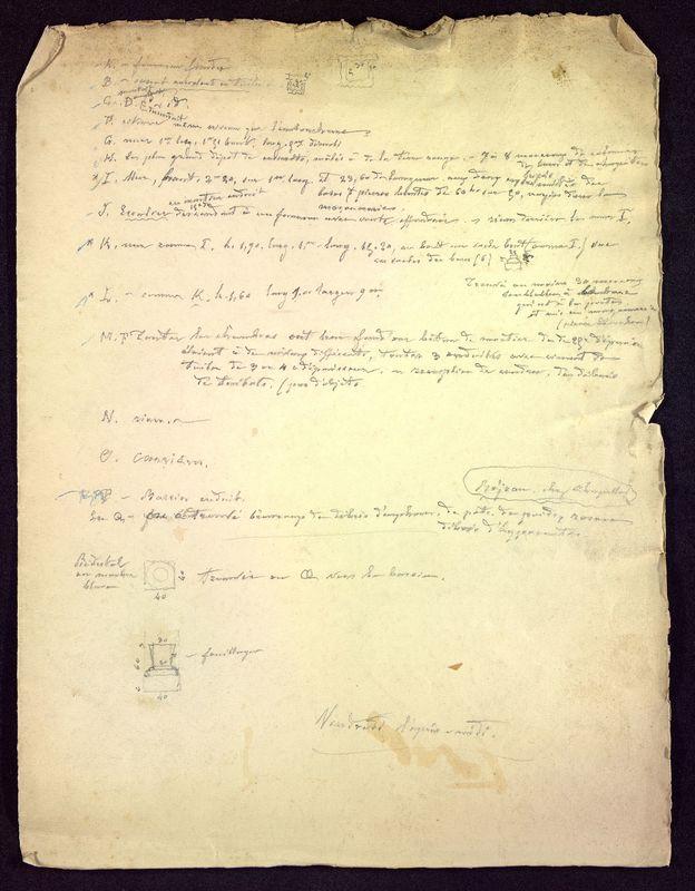 Visuel du media #6 - Notes sur les fouilles, Rue Paul Bert, page 1