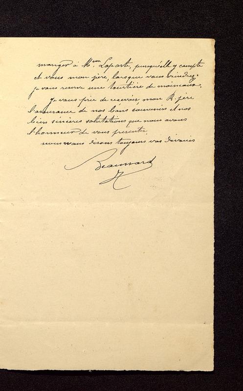 Visuel du media #7 - Lettre de Beaunard à De La Croix du 21 août 1901, page 3