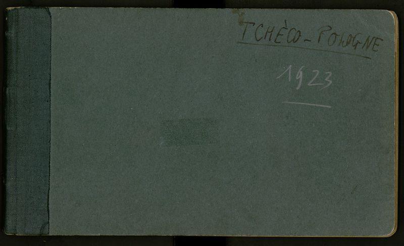 Visuel du document Carnet n°20, Tchécoslovaquie-Pologne (1923)