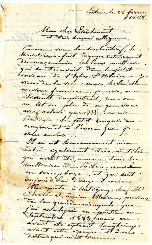 Visuel du media #5 - Lettre de De La Croix à Espérandieu du 28 février 1888, page 2