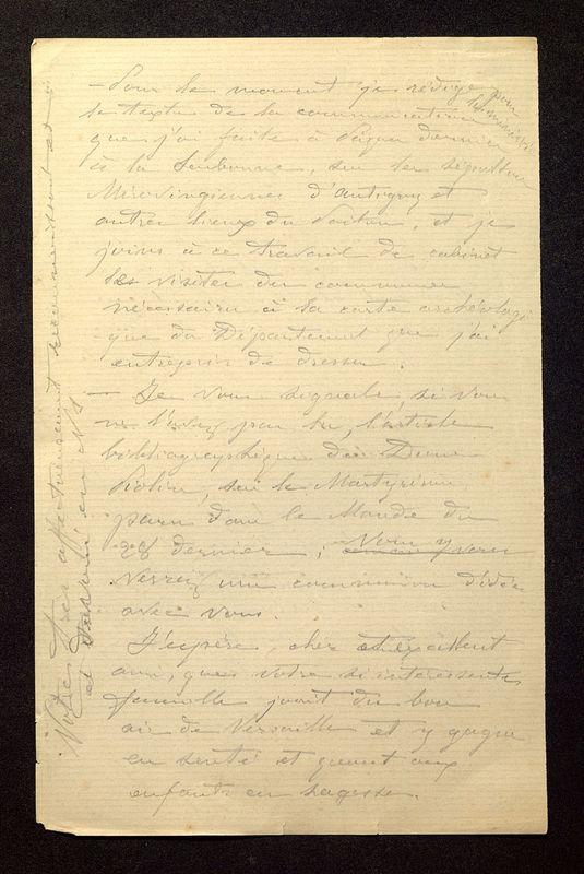 Visuel du media #2 - Lettre de De La Croix à Loth du 07 juillet 1889, page 2